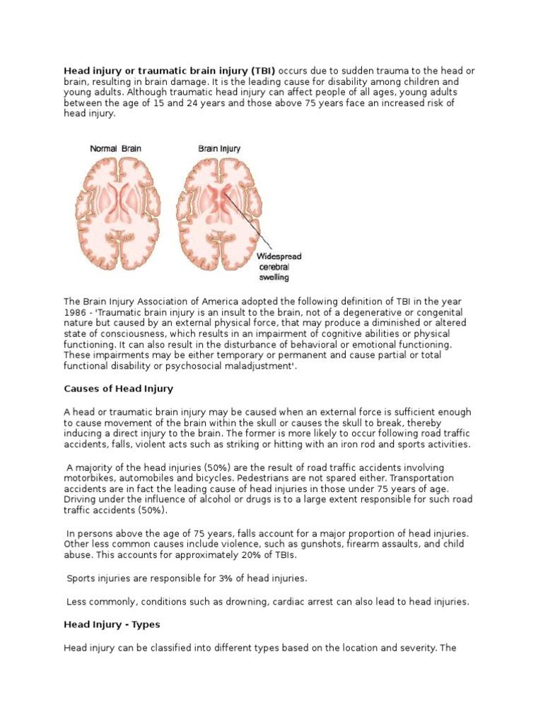 2dcada0abc0e2 Head Injury or Traumatic Brain Injury