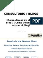 Blog  - Cómo damos de alta el Blog y Cómo volvemos a entrar