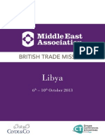 MEA Multi Sector Trade Mission to Libya 6-10 October 2013 (English, Arabic)