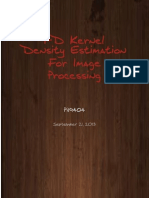 1D Kernel Density Estimation