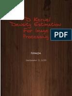 1D Kernel Density Estimation