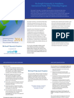 The Joseph P. Kennedy, Jr. Foundation International Public Policy Fellowship Program 2014
