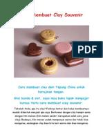 Cara Membuat Clay Souvenir