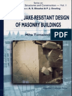 Earthquake-Resistant Design of Masonry Buildings (Book)