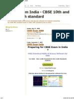 CBSE Exam India - CBSE 10th and CBSE 12th Standard