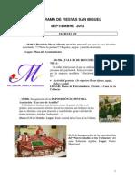 Programa Fiestas San Miguel 2013