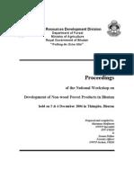 NWFP Workshop Proceedings of FRDD
