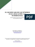 (eBook Spanish) Numerologia - Significado de Los Numeros