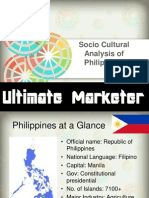 Socio cultural Analysis of Philippines