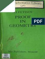 MIR - LML - Fetisov a. I. - Proof in Geometry - Mir