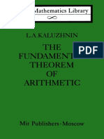 MIR - LML - Kaluzhnin L. a. - The Fundamental Theorem of Arithmetic