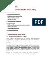 Acta de la 1ª asamblea de la convocatoria Jaque al Rey