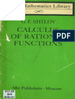 MIR - LML - Shilov G. E. - Calculus of Rational Functions - 1982