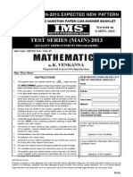 Upsc Ias Main 2013 Expected New Pattern.A Consolidated Question Paper Cum Answer Booklet