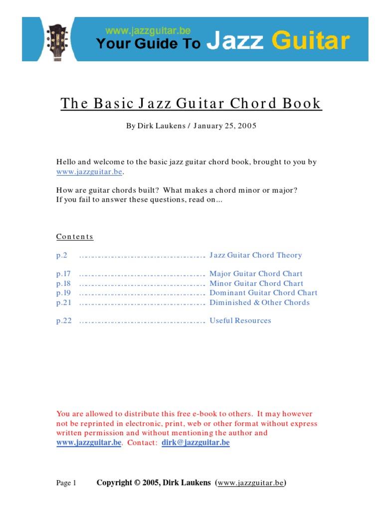 The Basic Jazz Guitar Chord Book Chord Music Jazz