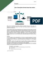 Measuring Principle of Thermal Mass Flow Meters