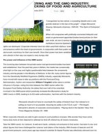 GM Crops - GE & GMO Industry - Corp Hijacking of Food & Agriculture