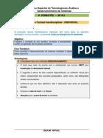 Producao de Texto Interdisciplinar Individual IV Semestre