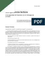 Competencia Lectora Sonsoles Fernandez