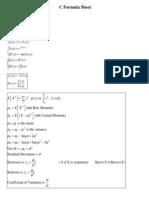 Exam C Formulas