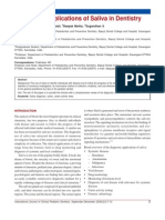 Diagnostic Applications of Saliva in Dentistry1