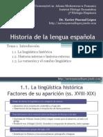 Historia Lengua Espanola 3 Tema 1