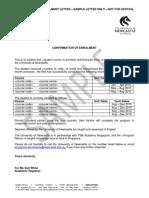 Singapore Standard Letter Samples