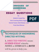 Tips in Answering Directed Writing in SPM