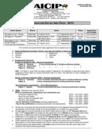 035rev23 - Exam Dates - AICIP 2013