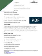 Print Version Lead Auditor Module
