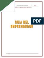 GUÍA PARA EL LLENADO DEL MANUAL DEL EMPRENDEDOR 2010