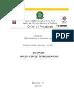 Relatorio Final de Estagio Supervisionado II.alexandra Ribeiro.esplanada2012