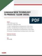 Clean Diesel Production