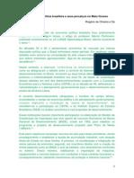 A economia política brasileira e seus percalços no Mato Grosso