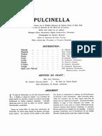 Stravinsky - Pulcinella VocalScore