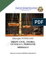 Drept Civil Teoria Generala an 1 Sem II