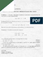 Examen - Ecuaciones Diferenciales Ordinarias(2001)