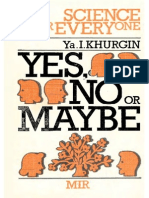 MIR - Science for Everyone - Khurgin Ya. I. - Yes, No or Maybe - 1985