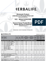 New Herbalife Price List-west