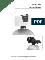 Model 7000 7000SE Service Manual Water Softeners