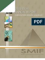 SMIF Annual Report 2003-2004