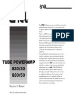 OM D E830 Tube Poweramp 30W 50W