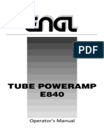 OM E840 Tube Poweramp 2 x50W