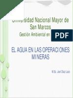 07 El Agua en Las Operaciones Mineras