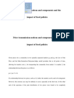 Price Transmission Notions and Components and The