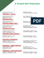 Daftar Jarak Tempuh Darat di sumatra dan jawa
