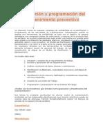 Planificación y programación del mantenimiento preventivo