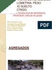 Laboratorio de Agregados Granulometria- Peso Unitario Suelto Compactado