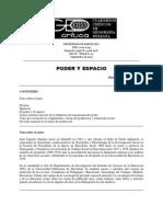 Sánchez, E. - Poder y espacio
