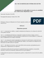LEY 24.156 Del 30-9-92 Administracion Financiera